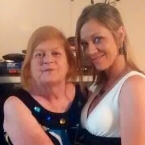 My beautiful friend Jennifer and her mother Carolyn.